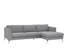 Furninova Broadway Sofa, mit Chaiselounge, Chromfüße