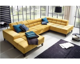 Lounge Ecksofa Candy Wilson, U-Sofa (Longchair li, Umbauecke re)