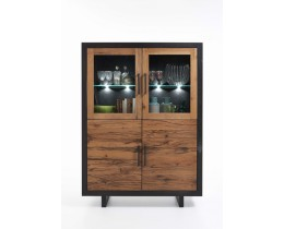 Wangen Highboard Balkeneiche Bodahl Lucca,Bicolor: Mocca Black + Öl Finish