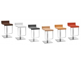 Design Barhocker Pedrali Kuadra 4427/F Echtleder, Made in Italy