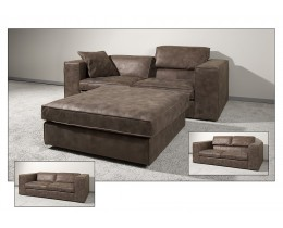 Leder Design Sofa Salomon